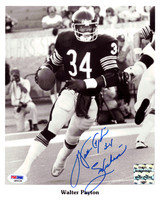 "Walter Payton Autographed 8x10 Photo Chicago Bears ""Sweetness"" PSA/DNA"