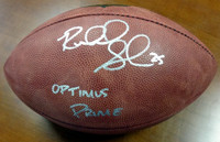 "Richard Sherman Autographed NFL Leather Football Seattle Seahawks ""Optimus Prime"" RS Holo Stock"