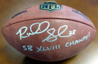 Richard Sherman Autographed NFL Leather Football Seattle Seahawks
