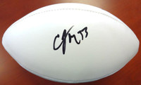 Christine Michael Autographed White Logo Football Seattle Seahawks