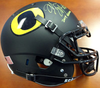 "Marcus Mariota Autographed Oregon Ducks Black Schutt Authentic Full Size Helmet ""2014 Heisman"""