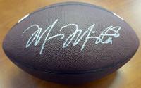 Marcus Mariota Autographed Oregon Ducks Brown Nike Logo Football