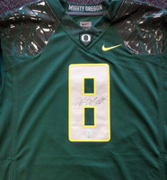 Marcus Mariota Autographed Oregon Ducks Green Nike Jersey Size XXL