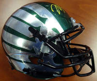 Marcus Mariota Autographed Oregon Ducks Green Schutt Authentic Mini Helmet