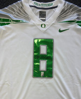 Marcus Mariota Autographed White Oregon Ducks Nike Jersey Size L MM Holo