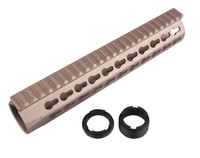 "URX4 10"" CNC Aluminum Free Float Rail - Tan"