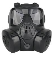 CBRN Style EM50 Black Mask with 2 Lenses