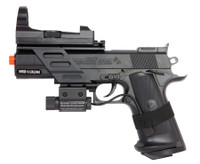 Colt Combat Commander 1911 Spring Pistol with Red Dot Sight and Laser