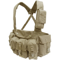 Condor 7 Pocket Tactical Chest Rig, Tan