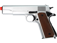 UHC 1911 Style Spring Airsoft Pistol, Silver