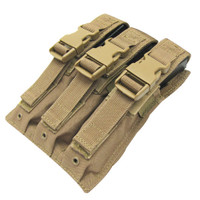 Condor MOLLE Triple MP5 Magazine Pouch, Tan