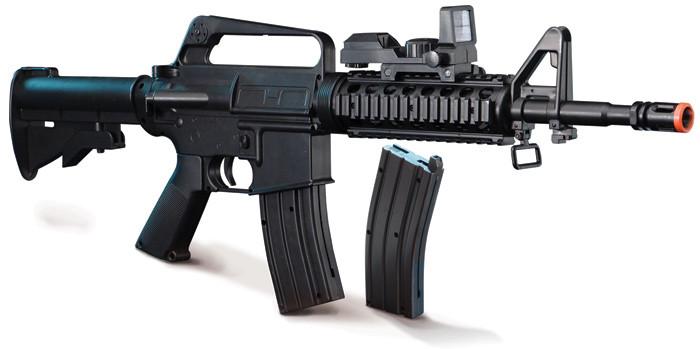 "Lancer Tactical 10"" Keymod M4 Airsoft AEG, Black (LT-"