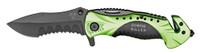 "4.5"" Spring Assist Zombie Killer Folding Knife - Green & Black"