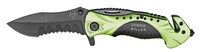 "4.5"" Spring Assist Zombie Killer Folding Knife - Green & Black"
