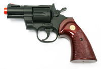 "UHC 2.5"" Airsoft Revolver, Black with Simulated Wood Grip"