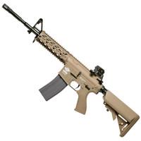G&G Combat Machine CM16 Raider L, Gas Blowback Airsoft Rifle, Tan, Version II