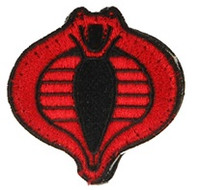 UKARMS Cobra Commander Velcro Patch (Black/Red)
