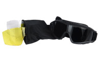 Lancer Tactical Airsoft Safety Goggle Kit, Standard, Black Frame, Smoke, Clear and Yellow Lenses