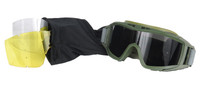 Lancer Tactical Airsoft Safety Goggles, Standard, OD Green Frame, Multi-Lens Kit