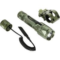 AIM Sports 180 Lumens Flashlight Kit w/ Offset Mount and Pressure Switch, Green