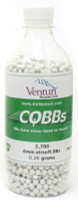 Air Venturi CQBBs 6mm biodegradable airsoft BBs, 0.25g, 2700 rds, white