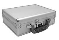 Aluminum Gun Case w/ Combination Lock and Carry Handle, Silver