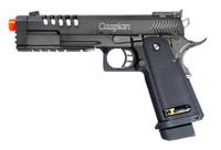 TSD Tactical WE Hi-Capa 5.1K-Tac Gas Blowback Pistol - Black w/Rubber Grips