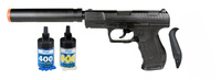 Walther P99 Spring Airsoft Pistol with Fake Silencer