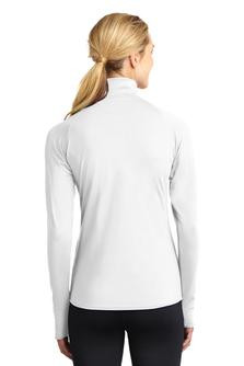 Ladies Embroidered Sport-Wick Stretch 1/2-Zip Pullover (Back)