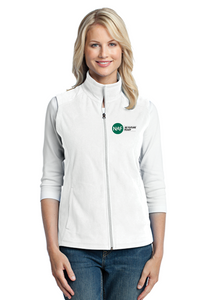 Embroidered Women's Micro Fleece Vest
