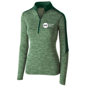 Ladies' 1/2 Zip Electrify Pullover (Green)