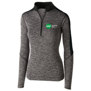 Ladies' 1/2 Zip Electrify Pullover (Black)