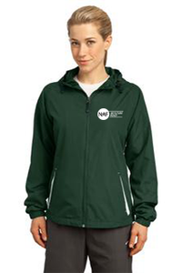 Ladies Colorblock Hooded Raglan Jacket (Green)