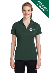 Ladies Racermesh Polo (Green)