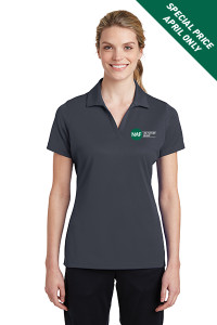 Ladies Racermesh Polo (Charcoal)