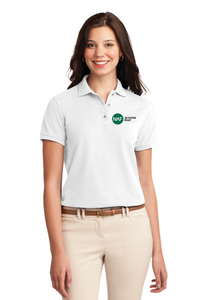 Ladies Silk Touch Embroidered Polo