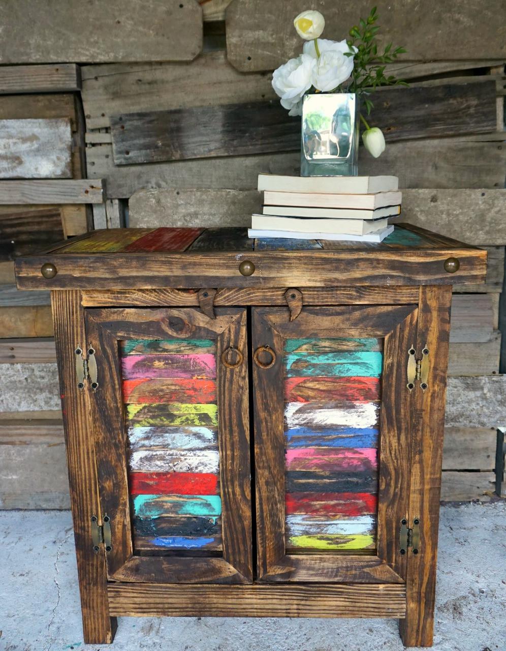 Amazing Zarape Shutter Side Table