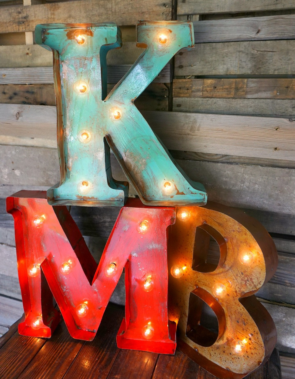 18quot metal marquee letters sofia39s rustic furniture With 18 marquee letters