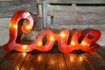 Love Metal Marquee