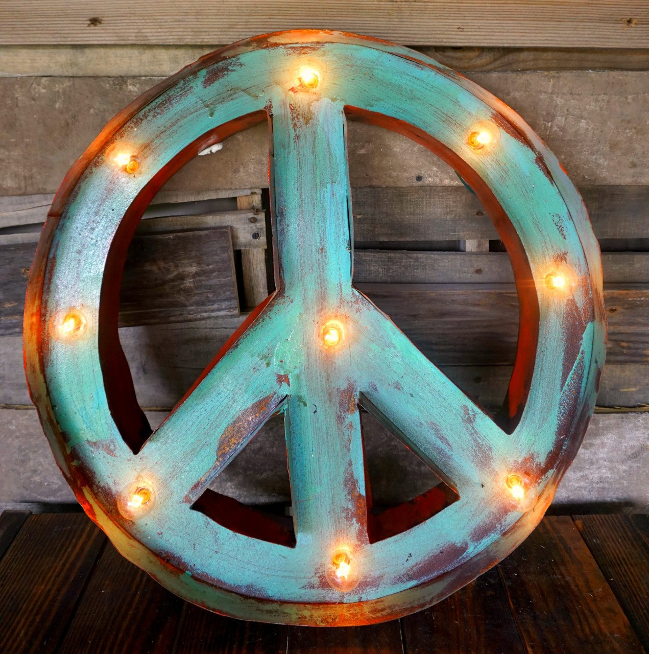 Peace Metal Marquee