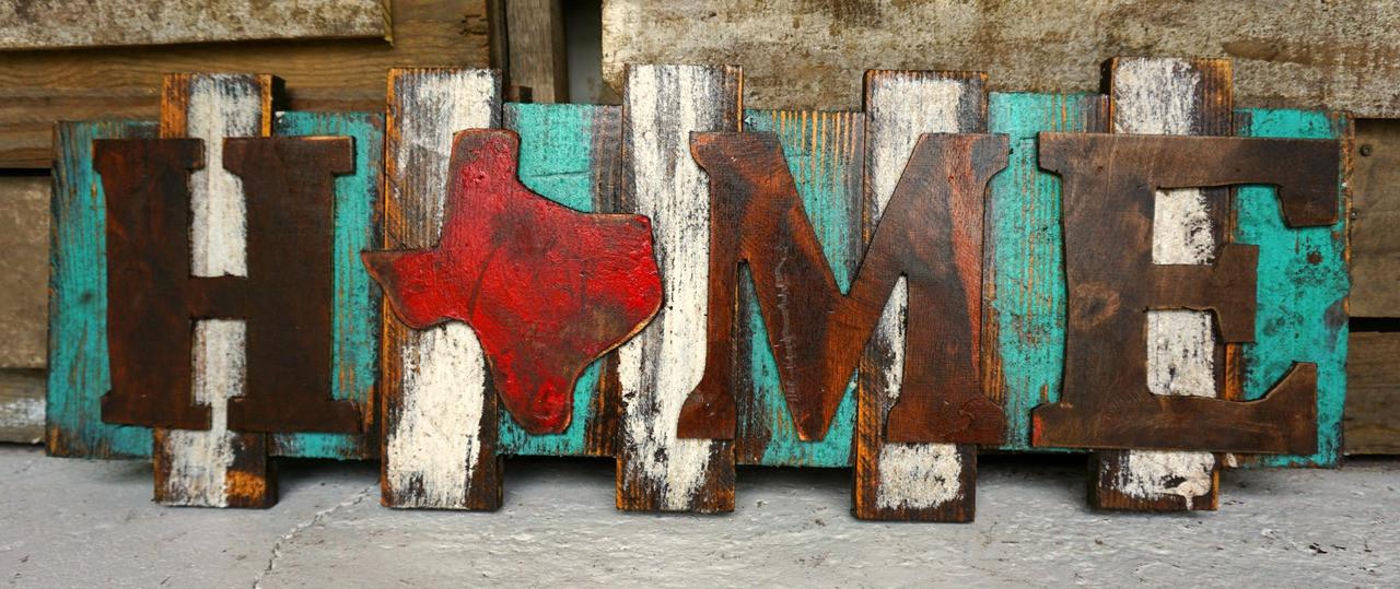 Texas Wall Art home tx wall art - sofia's rustic furniture