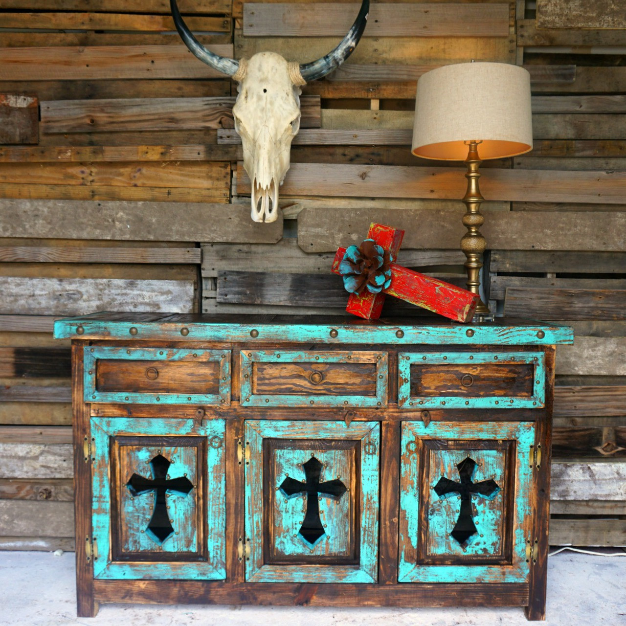 Tres Cruses Buffet Turquoise ...