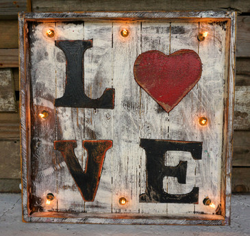 Love Wood Marquee
