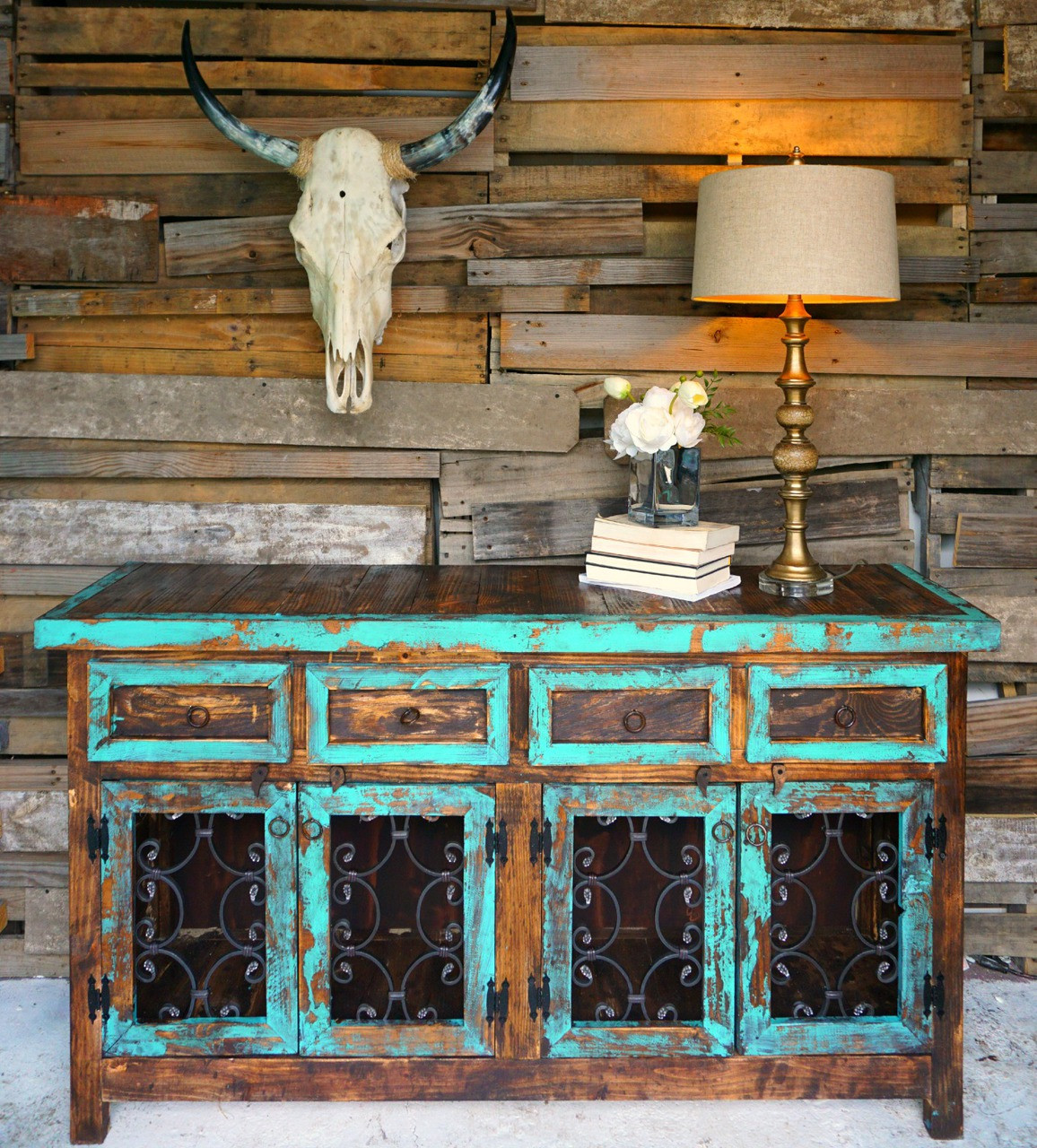 Santa Ines Buffet in Turquoise