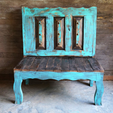 Old Door Style Bench