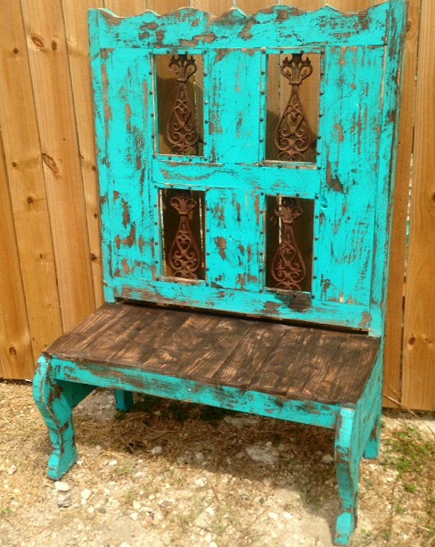 Tall Back Bench With Iron ...