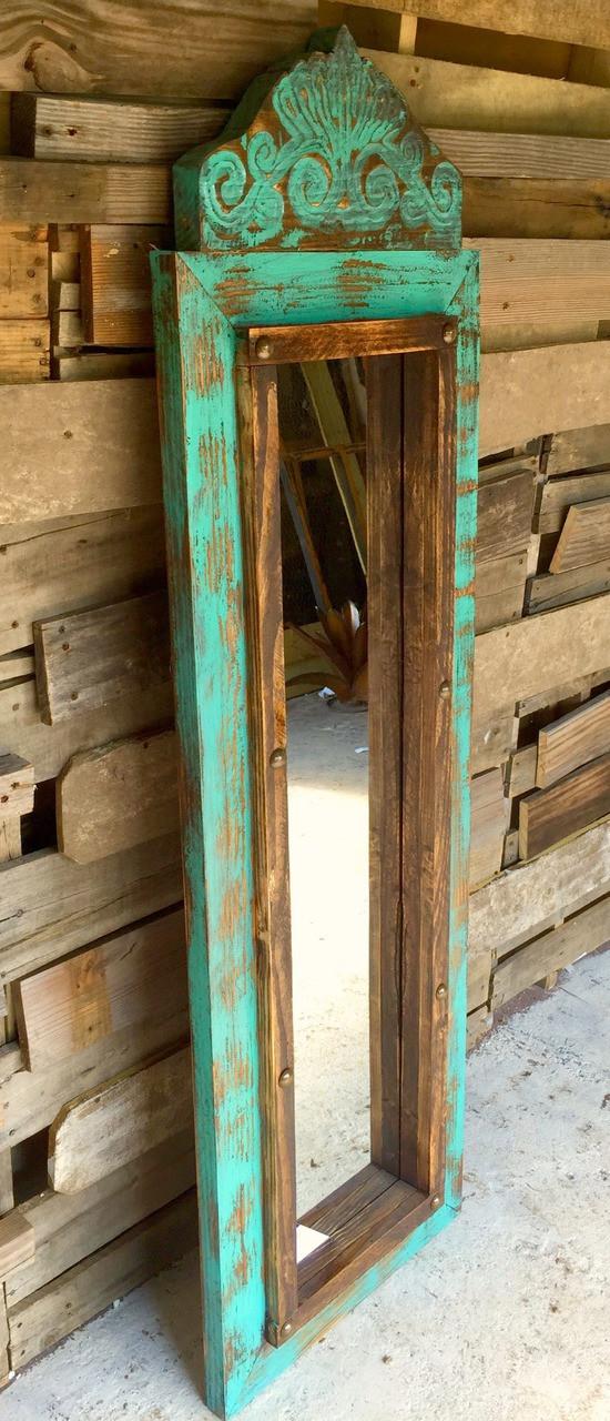 Agave Medium Mirror Turquoise