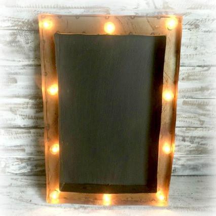 Chalk Board Metal Marque