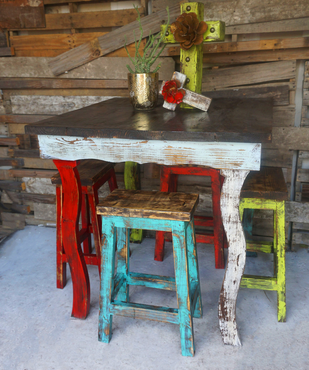 Catalina Bar Table Stool Set Sofia 39 S Rustic Furniture