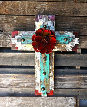 Tribal Cross in Red